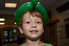 Ethan Schnall (4 years old) and his balloon hat.