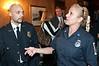 Damien Alexander and Elaine Custead of the Cabin John Fire Department