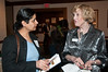 """Manpreet Singh of New York Life Insurance Company talks with Carol Leahy, President of the Potomac Theatre Company about the upcoming PTC production of Agatha Christie's """"Murder on the Nile""""."""