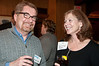 Steve Hull and Paula Duggan, both  of Bethesda Magazine, share a laugh at the Potomac Chamber of Commerce mixer.   Mr. Hull is the Editor and Publisher of Bethesda Magazine.
