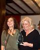 Citizen of the Year, Dr. Susan Rcih, receives her award from Potomac Chamber Secretary, Jennifer Matheson.