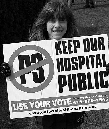 Ontario Health Coalition - Rally Against P3's - April 2004