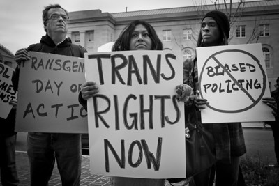 On Transgender Day of Action, Xion takes to the streets to urge DC police to provide better protection to the transgender community. Of the numerous assaults processed regularly by the police, virtually all of the crimes against these women go unsolved.