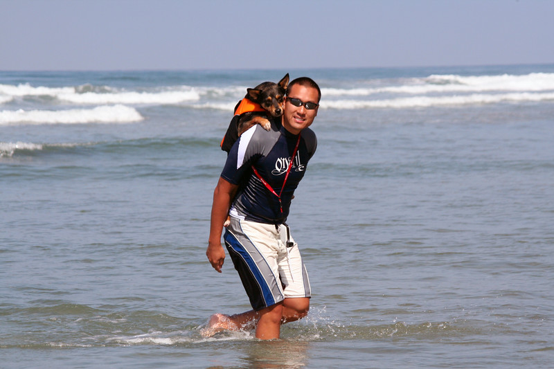 Del Mar Dog Beach Surfing 116