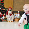 "Five month old, Finley Dunphy happily waits his turn to meet Mr. and Mrs. Claus during the GFWC Agawam Junior Women's Club ""Breakfast with Santa and Mrs. Claus,"" at the Roberta G. Doering Middle School in Agawam, Sunday. (Kimberly Hatch/Agawam Advertiser News)"