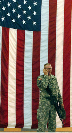 April 21, 2006:<br /> Staff Sgt. Raymond Cornwall calls his family from Biggs Airfield in El Paso, TX prior to leaving for Kuwait