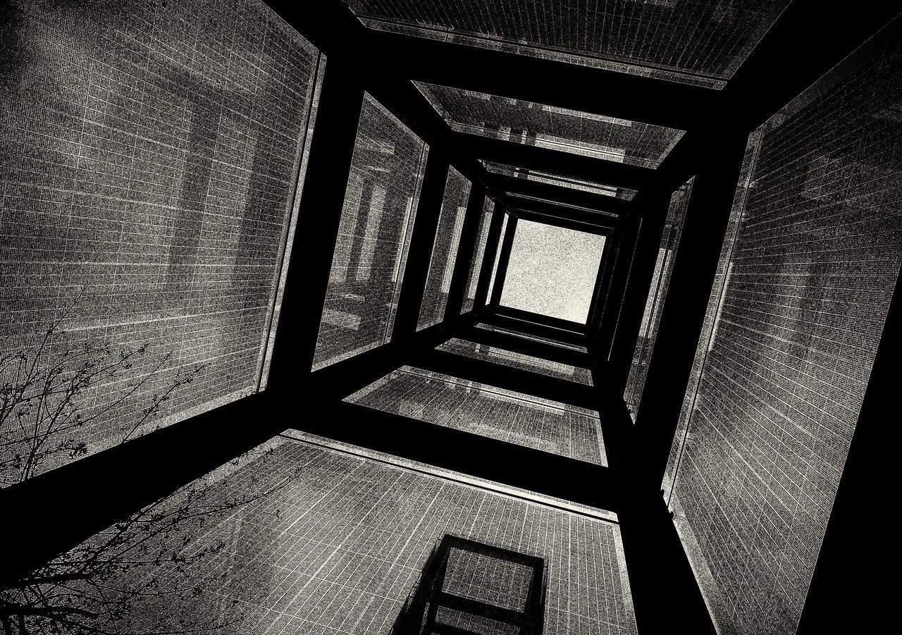 looking skyward as the vapors rise - NE Holocaust Memorial