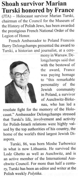 Mr. Turski served as our guide and translator while in Warsaw and was also our driver during travels to Dabie and Chelmno.