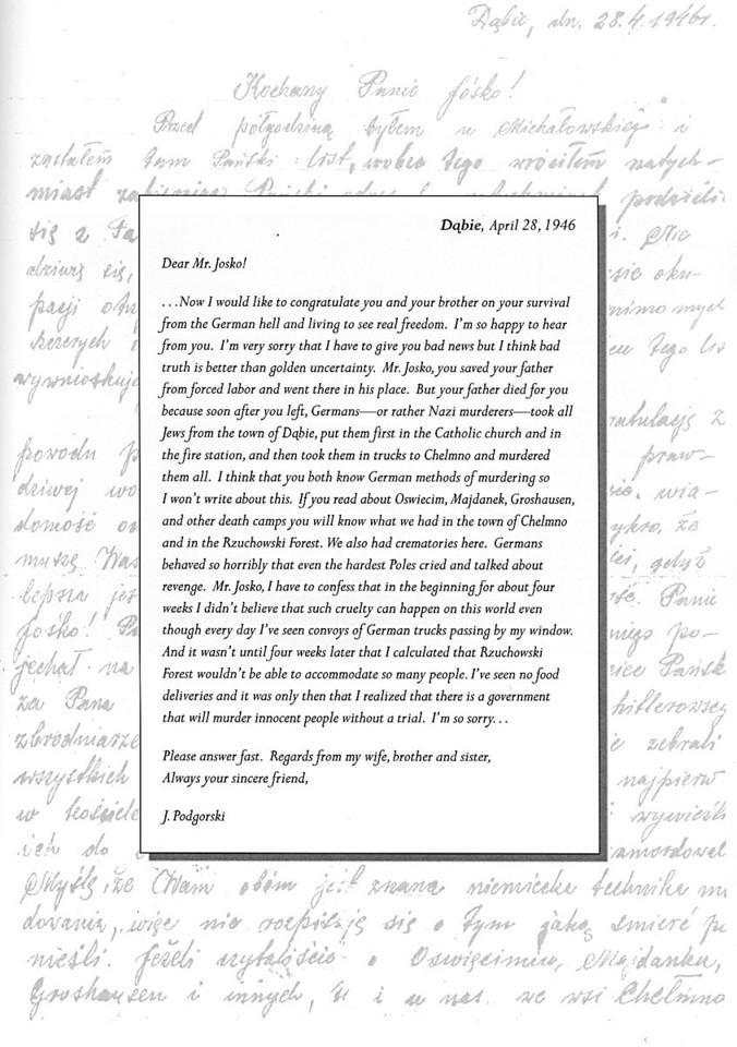 Podgorski letter