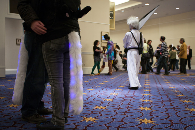 The first day of the 18th Katsucon, at Gaylord National Resort & Convention Center