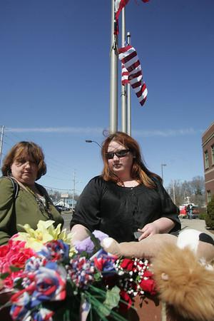 Memorial to Officer Jim Kerstetter at Elyria Police Station