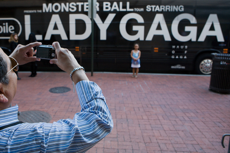 Lady Gaga fans outside the Verizon Center before the singer's sold-out show