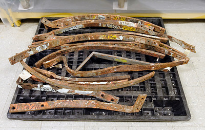 iron armatures  used in the original SOL structure build. removed during rebuild in the 1980's