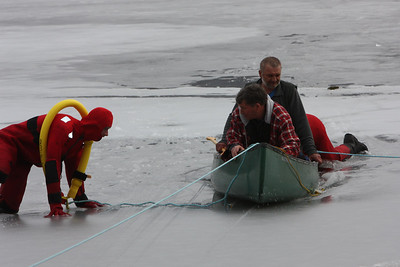 The ice is much thinner closer to shore.