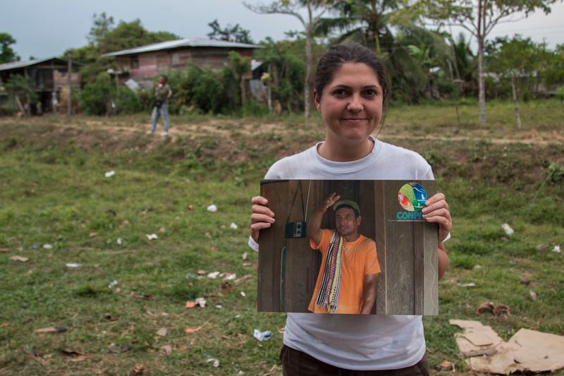 Nathalie y retrato de Hernan Bedoya
