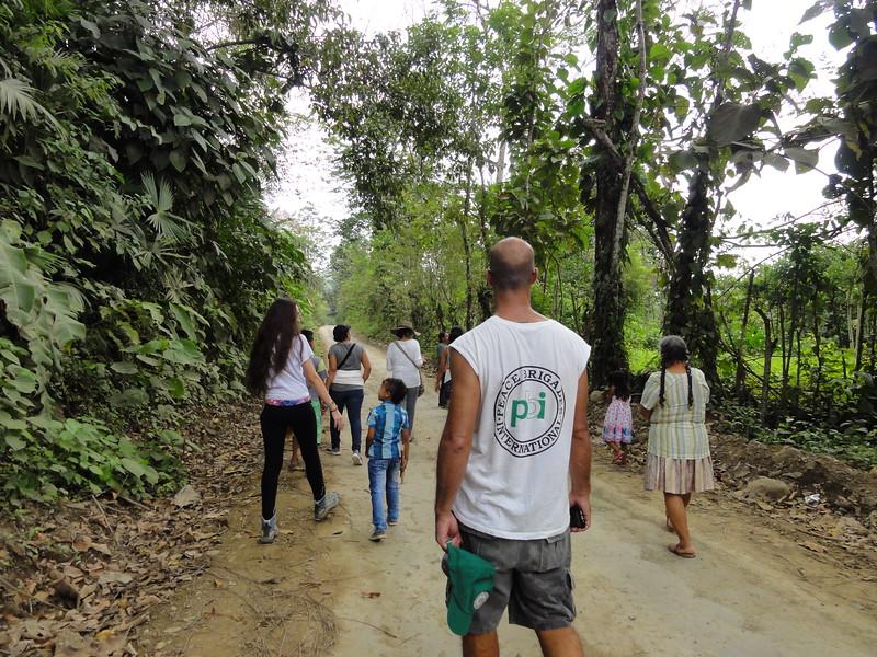 Marzo 2018 - acompañamiento a la Comunidad de Paz