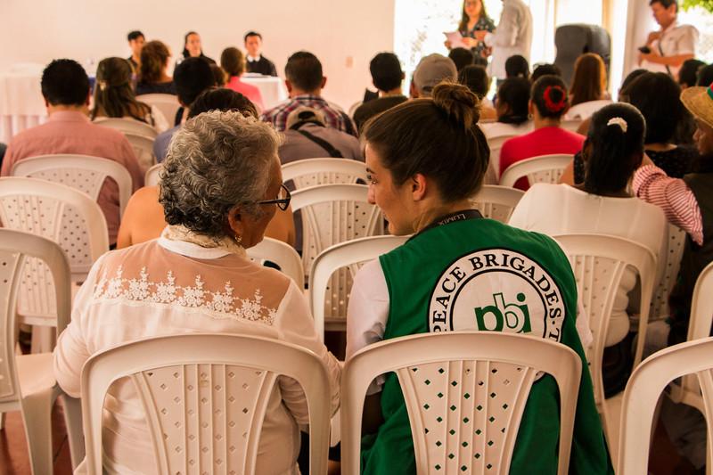 Agosto 2018 - Presentación Informe a la JEP sobre casos de Falsos Positivos en Casanar y Boyava y manifestación para defender los defensores en Yopal