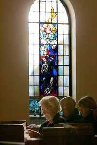 4OCT09   Worshippers arrive early for the last mass at Saints Cyril & Methodius Catholic Church in Lorain.   photo by Chuck Humel