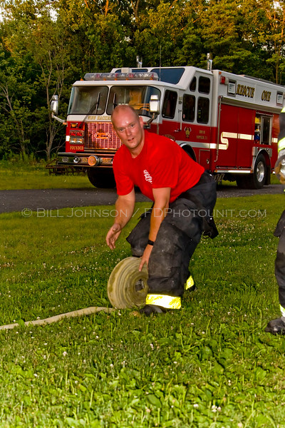 Live burn fire training 7/14/08  at rear of New Hackensack  Fire Station