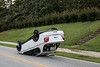 Car Flips on South Jeff Davis Road