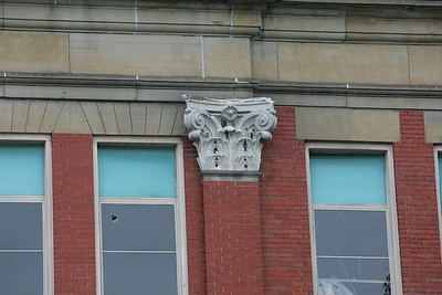 6OCT09  Some of the detail on the top of a column at the old Lorain High School.  photo by Chuck Humel