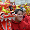 Members of the Gund Kwok Asian Women's Lion and Dragon Dance Troupe.