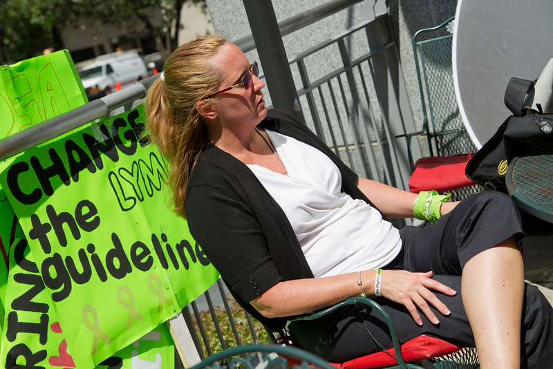 Allison could not attend last year's May Day because she was in the hospital for Lyme.