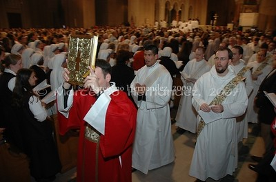 Vigil Mass with religious and clergy from all over the country. Spiritual shepherds of the missionary Church on Earth.