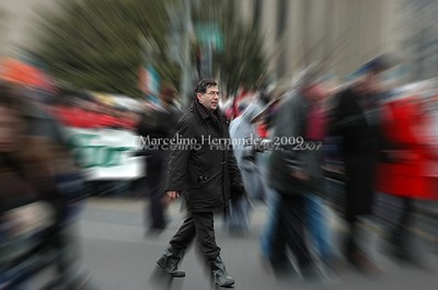 Fr. Pavone out in front, literally and figuratively. One of the most out spoken and Spirit filled men I have ever met.