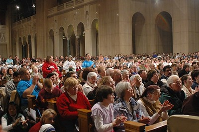 Vigil Mass, a sea of people. Bravely facing the challenge of defending life.