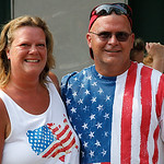 Sharon Langley says her husband is the most patriotic person she knows. Photo by Tom Mahl