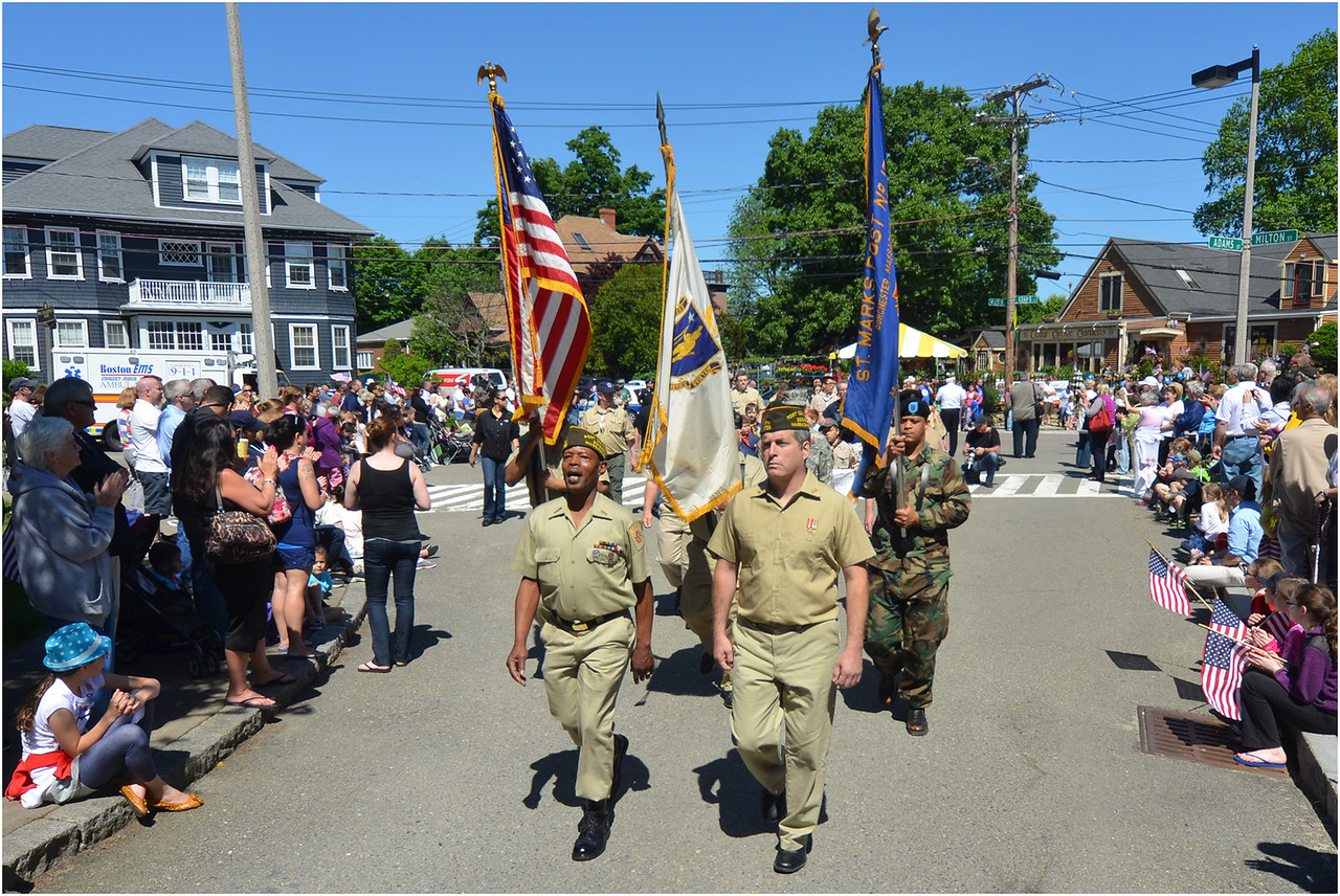 St. Mark's Post contingent enters Cedera Grove Cemetery.