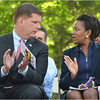 Boston Mayor Marty Walsh and State Senator Linda Dorcena Forry.