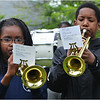 "Fifth-graders Taina Colon and Geovanni Recupero carry the tune in ""Amazing Grace"" for the Thomas J. Kenny Elementary School Band."