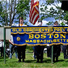 Jake Rolstom (far left), 9, of Dorchester, stands at attention long with members of the colorguard from the Old Dorchester Post.