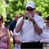 Dave Burdett of the Frank Zarba Band plays taps at Cedar Grove Cemetery.