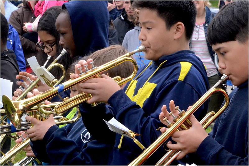 Thomas J. Kenny Elementary School Marching Band.