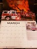 Month of March main photo Fire Trucks in Action calendar 2020