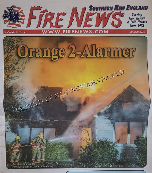 Cover photo Fire News New England Edition, Orange CT dwelling fire