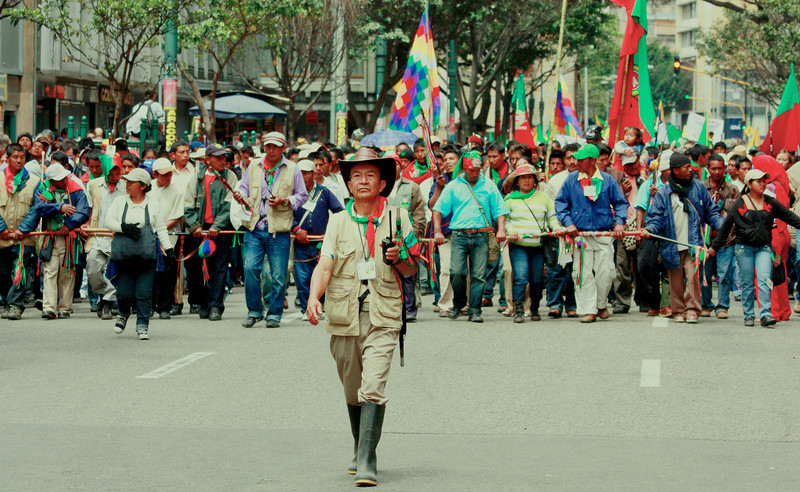 Las movilizaciones, una expresión de la lucha social, han estado en auge durante la última década. <br /> Foto: PBI Colombia