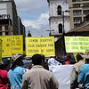 La defensora de derechos humanos Berenice Celeyta resalta que «no estamos todos; hay todavía mucha gente que teme salir a las calles, hay todavía mucha gente que tiene miedo de expresar sus pensamientos».<br /> Foto: Leonardo Villamizar