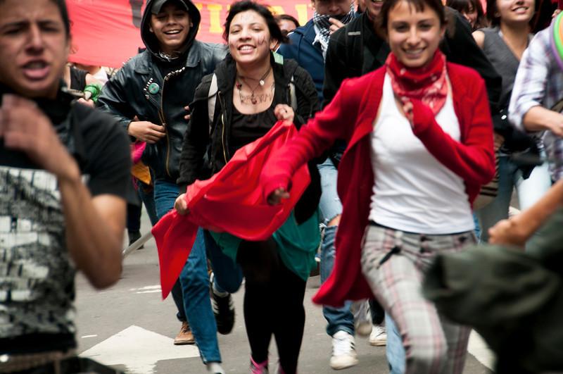 El año pasado miles de estudiantes se manifestaron y lograron el retiro del proyecto de reforma a la Ley de Educación Superior (Ley 30).<br /> Foto: Leonardo Villamizar