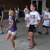 Reed Intermediate School's annual Reed Rally was held in the evening of Thursday, August 30. Families and new fifth grade students gathered first for a picnic then for an array of activities, like group dancing, as seen here. (Hallabeck photo)