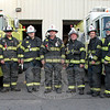 Botsford Fire Rescue Company is being led for another year by Chief Wayne Ciaccia, center, who has been the volunteer fire company's chief since 2004. Joining Chief Ciaccia in firefighting officer positions for 2012-13 are, from left, Mark Locorotondo, engineer; Ed Powers, engineer; Andrew White, captain; Justin Lurix, second assistant chief; Jeff Dugan, first assistant chief; Jim Swenson, lieutenant; Curt Brackett, chief engineer; and Paul Melnick, engineer. (Hicks photo)