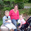 Ann Walder with her children, Hayden, 7, and Payton, 22 months, paused during Hawley Elementary School's annual Ice Cream Social, held Thursday, September 20, to enjoy the event's main attraction. During the event Hawley students and families gathered in the school's gymnasium to assemble ice cream sundaes before heading outside to the school's playground. (Voket photo)