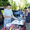 Glenn Cooper of Albany, N.Y. (call sign W2BK), talks with Dana Borginan, right, about radios during the Western Connecticut Hamfest sponsored by the Candlewood Amateur Radio Association.   (Bobowick photo)