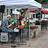 "Sandy Hook Organization for Prosperity (SHOP) hosted a special ""Peace, Love & Sandy Hook"" event, Saturday, July 13, from 4 to 9 pm. Justin Etheridge on keyboard and Craig Alan Schoenbaum, vocals and guitar, are The Craig Alan Band, who provided live music for visitors to Sandy Hook Center. Mr Schoenbaum grew up in Newtown and said that he was pleased to support the Center's efforts to increase business.  (Crevier photo)"