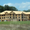 This condominium apartment building now under construction is one of six such structures planned to be built at the Newtown Woods complex at 166 Mt Pleasant Road in Hawleyville. When completed, the complex would hold a total 178 dwellings for people over age 55. (Gorosko photo)