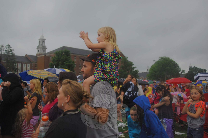 "One young fan had a prime seat for viewing above much of the crowd for Monday's concert.  (Bobowick photo)<br /> <br /> PLEASE NOTE: Additional photos from this event, which were presented online in a slideshow, can be viewed here:<br /> <a href=""http://photos.newtownbee.com/Journalism/Special-Events/Big-Time-Rush-concert-for"">http://photos.newtownbee.com/Journalism/Special-Events/Big-Time-Rush-concert-for</a>"