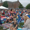 Gates opened at 4:30 Monday afternoon, and residents of all ages immediately began picking spots on the softball field-turned-lawn seating area for the Big Time Rush concert for Newtown residents.